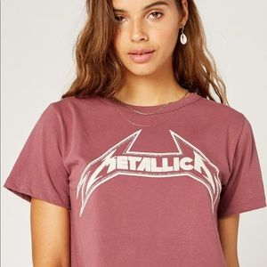 Daydreamer for Free People Metallica Cropped Tee